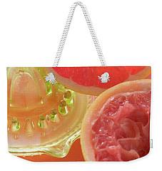 Pink Grapefruit Wedge, Squeezed Grapefruit, Citrus Squeezer Weekender Tote Bag