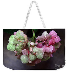 Pink Green And Rain Weekender Tote Bag