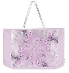 Pink Hibiscus Weekender Tote Bag by Victoria Harrington