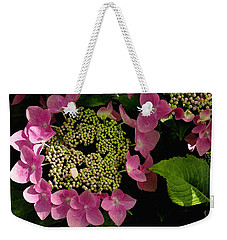 Pink Hydrangea Weekender Tote Bag by James C Thomas