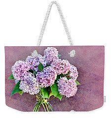 Pink Hydrangeas Weekender Tote Bag