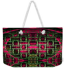 Weekender Tote Bag featuring the painting Pink Illusion by Rafael Salazar