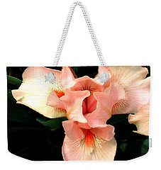 Weekender Tote Bag featuring the photograph Pink Iris by The Art of Alice Terrill
