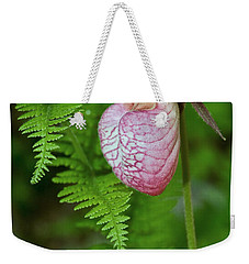 Pink Lady Slipper Weekender Tote Bag