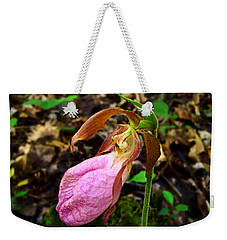Pink Ladyslipper Orchid Weekender Tote Bag