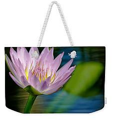 Purple Petals Lotus Flower Impressionism Weekender Tote Bag by Carol F Austin