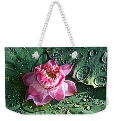Pink Lotus Flower Weekender Tote Bag by Venetia Featherstone-Witty
