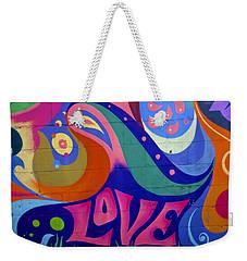 Pink Love Graffiti Nyc 2014 Weekender Tote Bag by Joan Reese