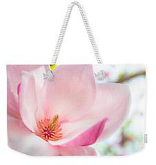 Pink Magnolia Weekender Tote Bag by Denise Bird