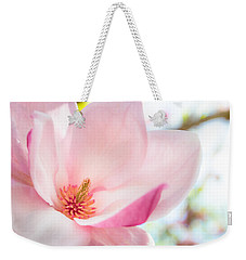 Pink Magnolia Weekender Tote Bag
