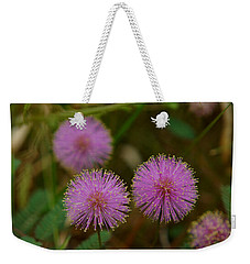 Pink Mimosa Weekender Tote Bag by Kim Pate