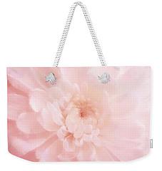 Pink Mum Luminous Painted Blossom Weekender Tote Bag