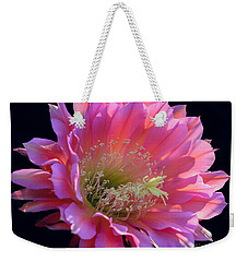 Pink Night Blooming Cactus Flower Weekender Tote Bag