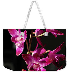 Pink Orchid Weekender Tote Bag by Eva Csilla Horvath