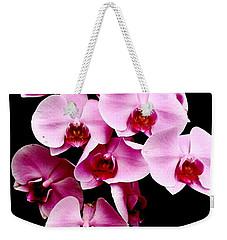 Pink Orchid Weekender Tote Bag by Menachem Ganon