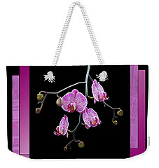 Framed Orchid Spray Weekender Tote Bag by Patti Deters