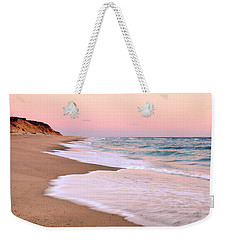 Pink Pastel Beach And Sky Weekender Tote Bag by Roupen  Baker