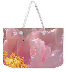 Weekender Tote Bag featuring the photograph Pink Peonies 2  by Cindy Greenstein