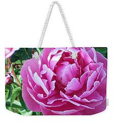 Pink Peony Weekender Tote Bag by Barbara Griffin