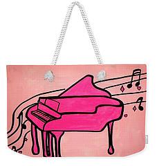 Pink Piano Weekender Tote Bag