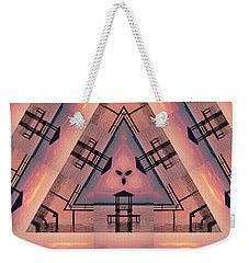 Pink Pier Kaleidoscope Two  Weekender Tote Bag
