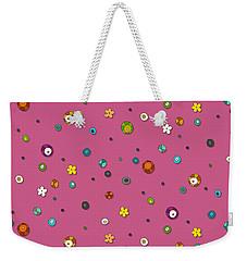 Pink Pop Flower Spot Weekender Tote Bag
