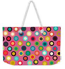 Pink Pop Spot Weekender Tote Bag