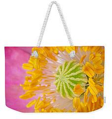 Pink Poppy Too Squared Weekender Tote Bag
