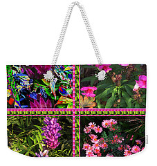Pink Purple Flowers Captured At The Riverside Ridge At Oakville Ontario Canada Collage Beautiful     Weekender Tote Bag