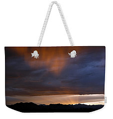Weekender Tote Bag featuring the photograph Pink Rain 1 by Marilyn Hunt