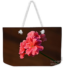Weekender Tote Bag featuring the photograph Pink by Ramona Matei