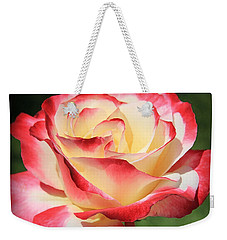 Weekender Tote Bag featuring the photograph Pink Rose by Athala Carole Bruckner