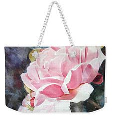 Pink Rose Caroline Weekender Tote Bag by Greta Corens