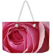 Pink Rose Dof Weekender Tote Bag by Arthur Fix