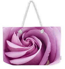Pink Rose Folded To Perfection Weekender Tote Bag by Sandra Foster