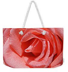 Pink Rose Weekender Tote Bag by Kathy Churchman