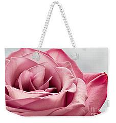 Pink Rose Macro Weekender Tote Bag by Carsten Reisinger