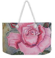 Pink Rose Weekender Tote Bag by Pamela  Meredith