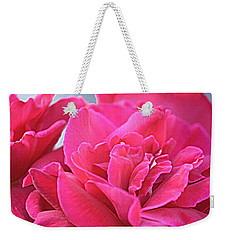 Pink Roses Weekender Tote Bag by Donna G Smith