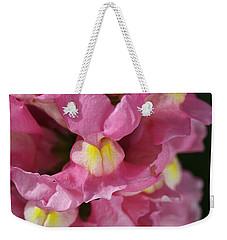 Pink Snapdragon Flowers Weekender Tote Bag