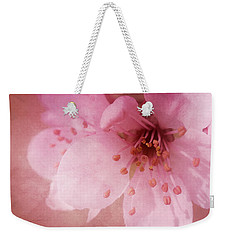 Weekender Tote Bag featuring the photograph Pink Spring Blossom by Ann Lauwers
