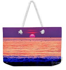 Pink Sun Weekender Tote Bag