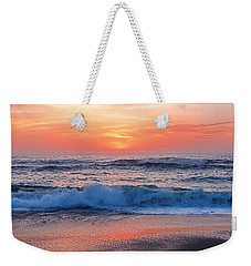Pink Sunrise Panorama Weekender Tote Bag by Kaye Menner