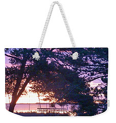 Weekender Tote Bag featuring the photograph Pink Sunrise by Rogerio Mariani