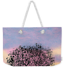 Weekender Tote Bag featuring the drawing Pink Sunset by D Hackett