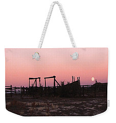 Pink Sunset Over Corral Weekender Tote Bag by Cathy Anderson