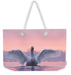 Pink Swan Weekender Tote Bag by Roeselien Raimond
