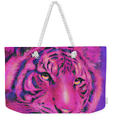 Pink Tiger Weekender Tote Bag by Jane Schnetlage
