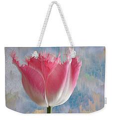Pink Tulip Weekender Tote Bag