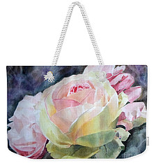 Pink Yellow Rose Angela Weekender Tote Bag by Greta Corens